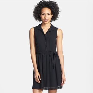 Kensie • Button Front Little Black Dress